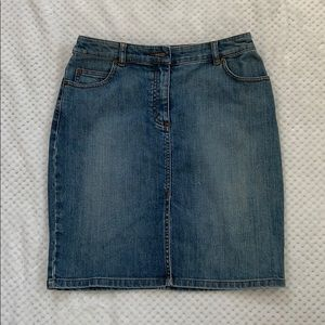 The Limited Stretch Jean Skirt